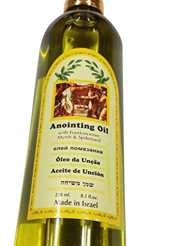 EIN Gedi Assorted Holy Land Scented Anointing Oils by Lion of Judah Market (Frankincense, Myrrh and Spikenard, 250ml)