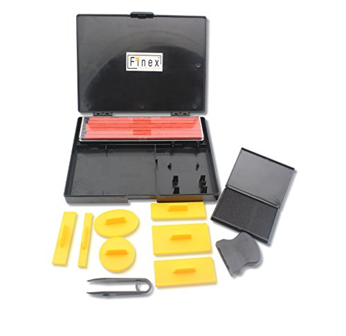 Finex DIY Rubber Stamp Printing Kit  Easy to use DIY Create Your Own Stamps Set for Business Craft Hobby School