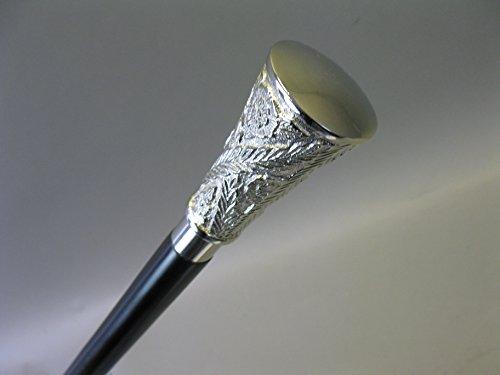Canne en bois avec poignée en métal Canne 96 cm marié M37 Walking Stick bâton de randonnée