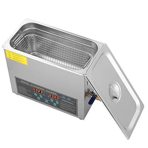 Limpiador ultrasónico Digital de Doble frecuencia Control de Temporizador Digital 6L Limpiador ultrasónico Industrial Acero Inoxidable 220v