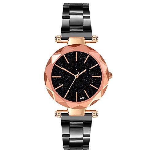 WHEatch Reloj de Pulsera Reloj de señora Simple Reloj Reloj de Cuarzo Reloj de Cuco Minimalista para Mujer
