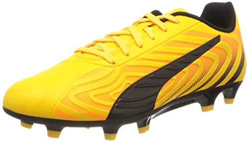 PUMA One 20.4 FG/AG, Botas de fútbol Hombre, Amarillo (Ultra Yellow Black/Orange Alert), 42 EU