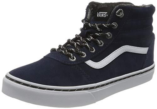 Vans Unisex Kinder Ward Hi Suede Sneaker, Outdoor-Kleid Blues Weiß, 33 EU