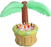 Xgood Inflatable Palm Tree Coolers Drink Cooler Tropical Hawaiian Theme Cooler Floating Pool Cooler Palm Tree Drink...