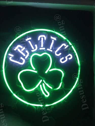 LeeQueen Creative Design Customized New 17inx17in Boston Sports Team Celtic Shamrock Logo Neon Sign (Various Sizes) Beer Bar Pub Man Cave Business Glass Neon Lamp Light DB277