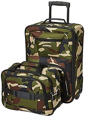 Rockland Fashion Softside Upright Luggage Set, Camouflage, 2-Piece (14/19)