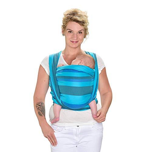 HOPPEDIZ baby-draagdoek, inclusief handleiding (mogelijk niet beschikbaar in het Nederlands). 2.50 x 0.70 m Dublin