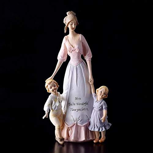 Decoración del Hogar Europeo Cálido Familia Amor Madre E Hijo Figura Escultura Decoración Manualidades Adornos Amor Regalo, C