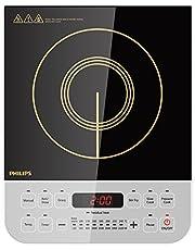 (Renewed) Philips Viva Collection HD4928/01 2100-Watt Induction Cooktop (Black)