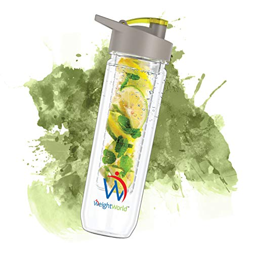 Weight World Botella Infusor - Disfruta De Tus Bebidas Favoritas Con Agua - Botella Reutilizable Libre De BPA - Perfecta Para Deporte Y Fitness - 750ml -Cierre Antifugas