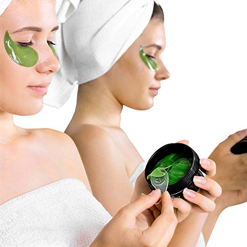 41YmcRGWYxL - Aloe Vera Eye Treatment Mask (30 Pairs) Reduces Puffiness, Wrinkles, Puffy and Bags Under Eyes, Lightens Dark Circles, Undereye Patches Moisturizes and Anti Aging Skin, Hydrogel Pads with Collagen