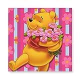 YOKJLDH Winnie The Pooh Flowers - Póster de pared, diseño de Winnie the Pooh, Color1, 40*40cm