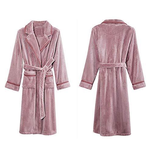 HUAHUA HOMEWEAR Parejas Robe Coral Fleece invierno Albornoz Albornoz aspirar el agua Hombre atractivo vestido for hombre del tamaño extra grande Kimono Robes salón de las mujeres ropa de dormir, Mujer