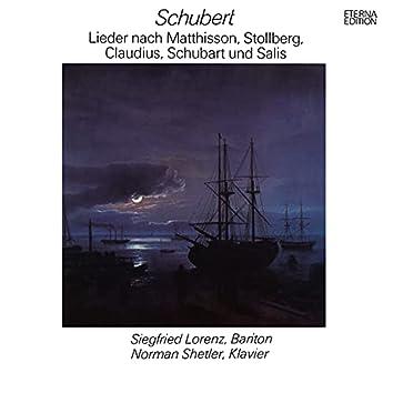 Schubert: Lieder nach Matthisson, Stolberg, Claudius, Schubart und Salis