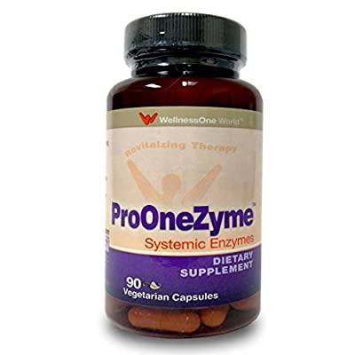 Pro-OneZyme Best Proteolytic Systemic Enzymes Supplement with Nattokinase Plus Probiotics - for Enzyme Function Throughout The Body - 90 Capsules