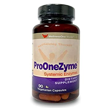 Pro-OneZyme Best Proteolytic Systemic Enzymes Supplement with Nattokinase & Seapose - 90 Capsules