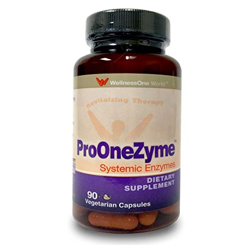 Pro-OneZyme Best Proteolytic Systemic Enzymes Supplement with Nattokinase & Seapose - Joint, Muscle, Digestion - 90 Capsules