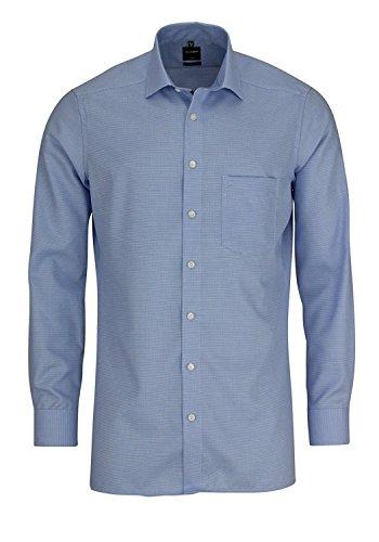 OLYMP Modern Fit Hemd extra langer Arm Muster hellblau AL 69