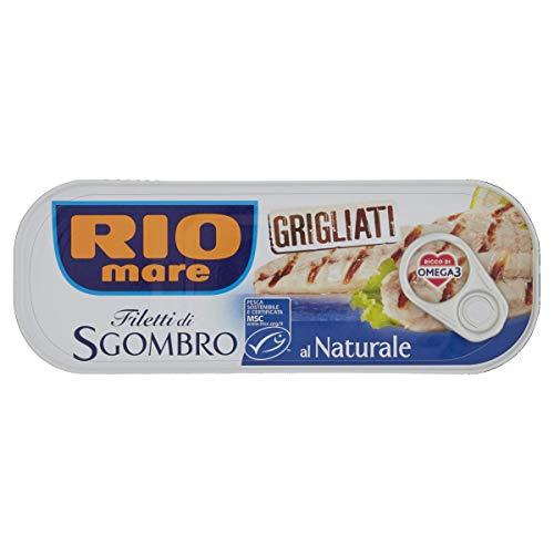 Rio Mare - Filetti di Sgombro Grigliati al Naturale, Ricchi di Omega 3, 1 lattina da 120g