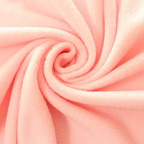 STOFFKONTOR Polar Fleece Stoff Meterware, Fleecestoff zum Nähen mit Antipilling Eigenschaften - Rosa