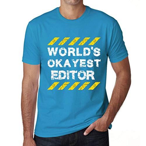 One in the City Hombre Camiseta Gráfico T-Shirt Worlds Okayest Editor Atolón Azul