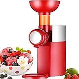 HYDDG Máquina de Helado de Servidor Suave/Fabricante congelado Fruit Hele Cream Maker con congelador Incorporado, Saludable, lácteos, heladería Vegana, Simple Operación de Empuje