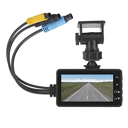 Mxzzand Grabadora de conducción 1080p DVR Cámaras Delanteras y traseras duales Impermeables para Moto