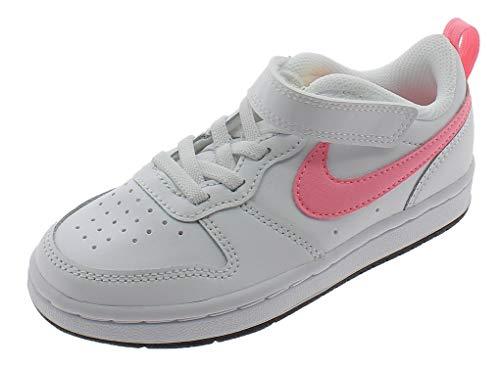 Nike Court Borough Low 2 (PSV), Zapatillas de bsquetbol, White Sunset Pulse Lt Zitron Black, 28.5 EU