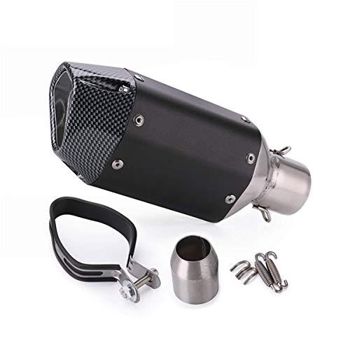 outingStarcase De Escape de Motocicleta Tubo Silenciador Universal 38-51mm Corto de Escape Modificado Piezas de Repuesto Tubo silenciador de la Motocicleta