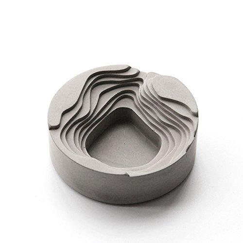 Anaan Terrace Asbak/bloempot van beton design, voor binnen en buiten, as, geometrisch modern decoratief industrie