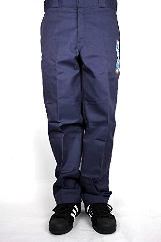 (ディッキーズ)DICKIES RELAXED FIT FLANNEL LINED WORK PANTS (フランネルライナーワークパンツ) navy