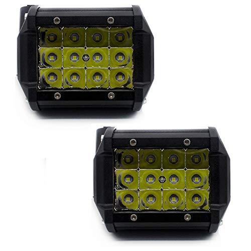 QCLU Luz de Trabajo LED de 4 Pulgadas 36W, Luces de Niebla Cuadradas for Conducción de Automóviles Foco Modificado Offroad Camión 4x4 ATV SUV Camioneta 4WD Viga de Punto de Barco (Color : 2 pcs)