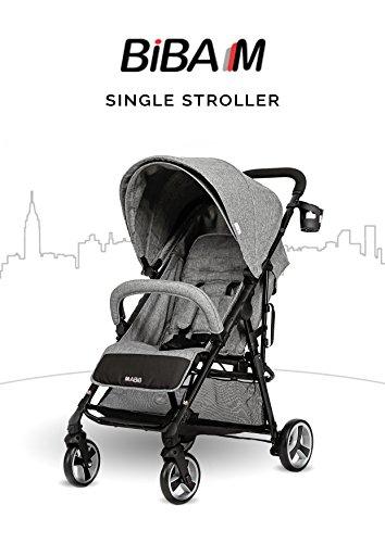 BIBA Single Stroller (Charcoal)