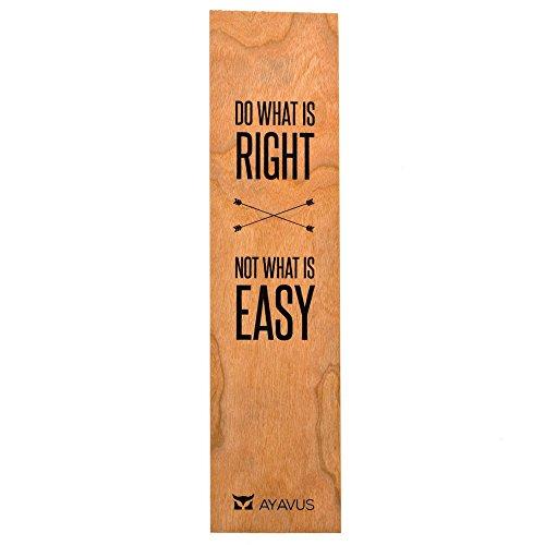Do What is Right Not What is Easy – Marcador de livro de madeira com citação inspiradora de empreendedor da Do What is Right Not What is Easy – Citações de auto-melhoria para viagem feitas nos EUA