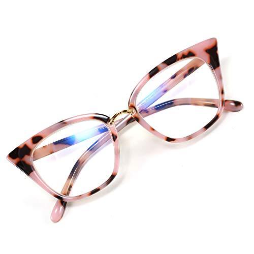 WANWAN Women Cat Eye Reading Glasses Fashion Frame Oversized Quality Readers (X-Leo002, 1.0 x)