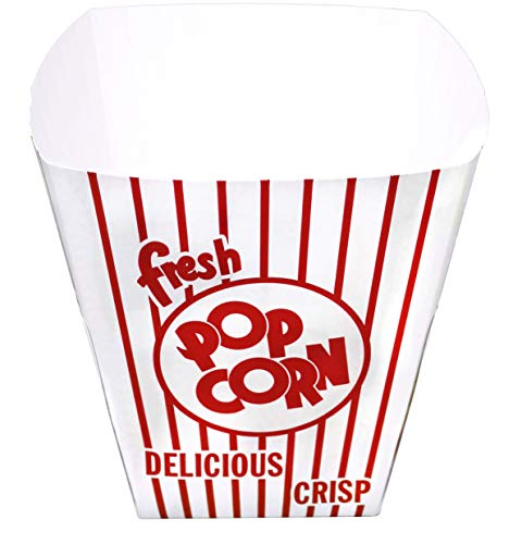 Disposable Popcorn Serving Bowl, 7' x 7' Inch, 25 Pack, Great for Movie Night