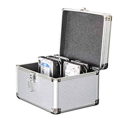 Seaocloud 3.5インチ ハードディスク 保護ケース 10台収納 HDD収納 ボックス 3.5インチHDD 本体收容 アルミ製保管ケース 堅固・防湿・防塵・耐衝撃 シルバ (SC35-10NEW)