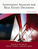 Real Estate Investing Books! - Dearborn Investment Analysis for Real Estate Decisions, Comprehensive Guide on Real Estate Investing, 9th Edition (Paperback)
