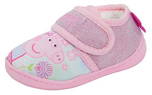 Peppa Pig - Zapatillas para niñas con purpurina rosa, color Rosa, talla 27 EU