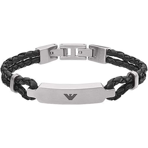 Emporio Armani Essential-Armband aus Silvert Tone Edelstahl für Herren EGS2719040