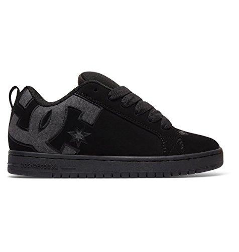 DC Men's Court Graffik SE Skate Shoe,Black Destroy Wash,10.5 D US