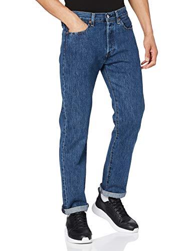 Levis Herren 501 Original Jeans, Stonewash 80684, 34W / 34L