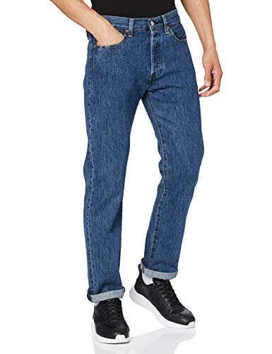 Levi's 501 Original Fit Jeans, Blu Stonewash, 38W/32L Uomo