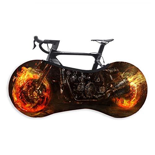 Copriruota per Bicicletta, Elasticità Copri-pneumatici Copriruota per Mountain Bike per Esterni Interni Adatto per Pneumatici 26-29 Pollici Mountain, Road, MTB Bike (Flame Locomotive,26-29 Inches)