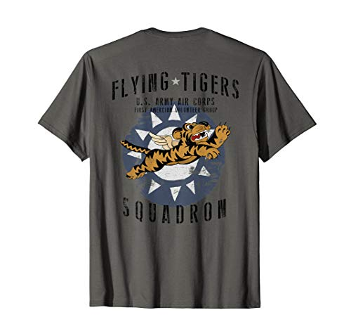 Flying Tigers Squadron WWII Vintage InsigniaBACK PRINTED T-Shirt
