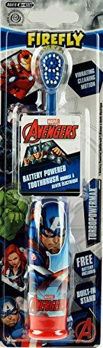 Xen-Labs Marvel I Brosse à dents électrique à piles 100 ml AVENGERS_ELECTRIC_TOOTHBRUSH Les personnages varient (Hulk, Captain America, Iron Man, Spider Man, etc