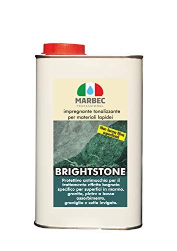 Marbec - BRIGHTSTONE 1LT | Protettivo impregnante tonallizzante per Materiali lapidei