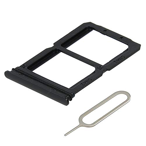 MMOBIEL Dual SIM Card Tray Compatible with OnePlus 6 1+6-6.28 inch 2018 (Midnight Black) incl Sim pin