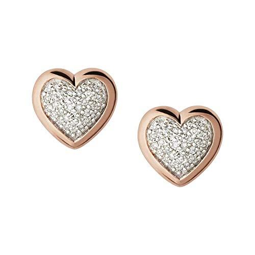 Links Of London Diamond Essentials Rose Gold Plated Stud Earrings