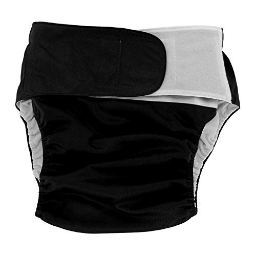 Adult Cloth Diaper - Dewin Reusable Washable Nappy, Adjustable Large Nappy, for The Elder, 4 Colors (Color : Black)